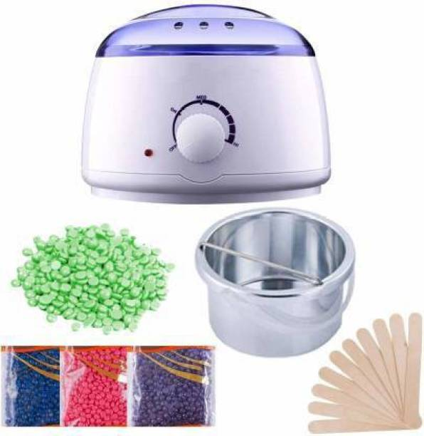 Meeren Wax Warmer Hot Wax Heater with Hair Removal Wax Beans(50g) and Wooden Chips for Hard, Strip and Paraffin Waxing Kit for Women - Color May Vary Wax
