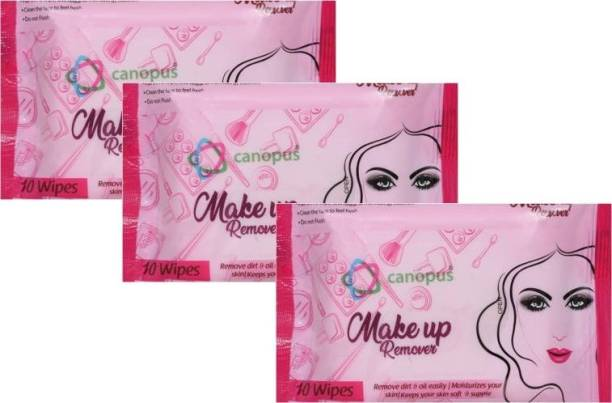 Canopus Make Up Remover Wipes (3X10) Makeup Remover