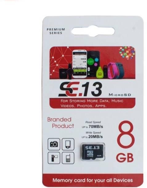 SE.13 Premium 8 GB MicroSD Card Class 10 70 MB/s  Memory Card