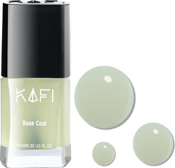 KAFI Gel Effect, Protective & Smoothing BASE COAT - Long lasting, Non Toxic, High Shine, Vegan, 10 Free Formula-(Protects from Staining) (Natural Texture)