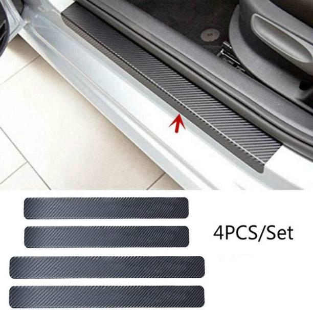Tufkote Universal Anti-Scratch Door Sill Scuff Guard Car Decal Black 4pcs Door Sill Plate