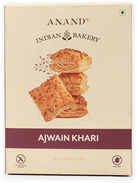 Anand Crispy Ajwain Khari Puff Bakery Biscuit
