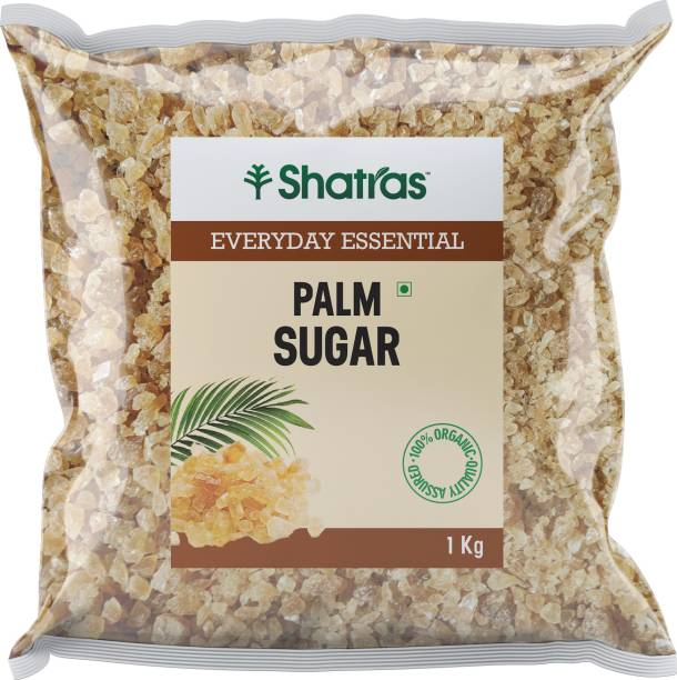Shatras Palm Sugar Crystals Pure and Natural - Best Sugar Substitute/ taad cheeni (1x1000g) Sugar
