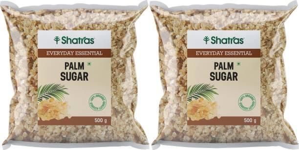 Shatras Palm Sugar Crystals Pure and Natural - Best Sugar Substitute/ taad cheeni (2x500g) Sugar
