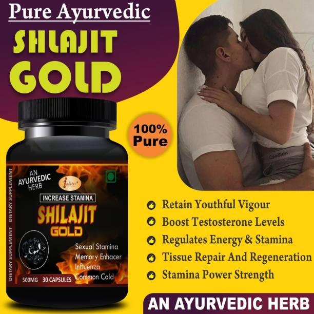inlazer Shilajit Gold Sexual Capsules For Quick Action Increasing Sexual Power For Men & Women 100% Ayurvedic