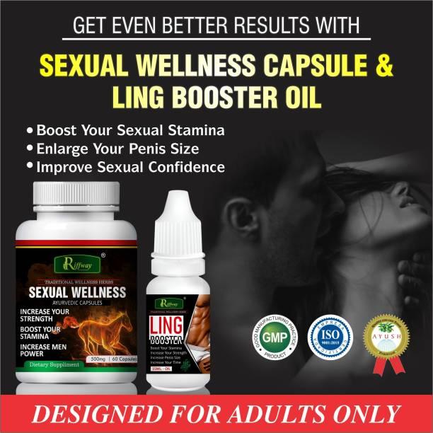 Riffway Sexual Wellness Capsules & Ling Booster Oil Ling Mota Lamba Karne Ki Medicine/Increase Sexual Time