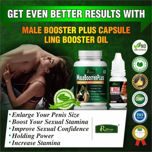 Riffway Male Booster Capsules & Ling Booster Oil ling mota lamba karne ki Dawai/ Sex Power Badhane Ki Dawa