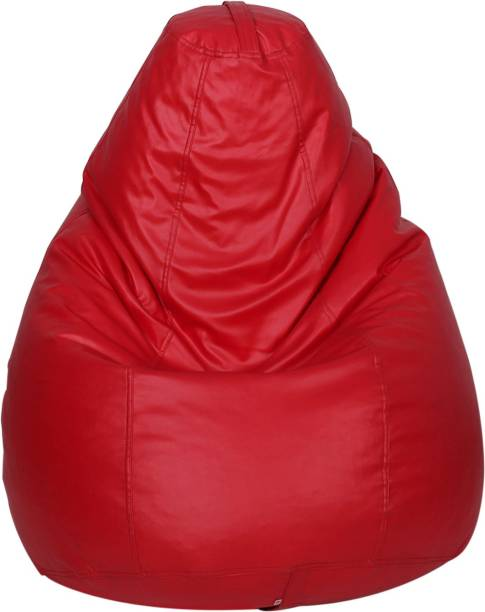 STAR XL Classic Red Teardrop Bean Bag  With Bean Filling