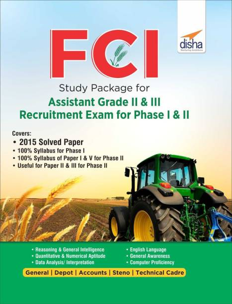 Fci Study Package for Assistant Grade II & III Recruitment Exam for Phase I & II