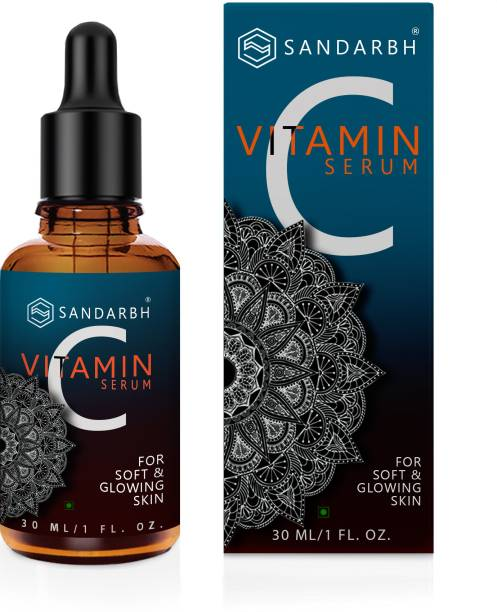 Sandarbh Vitamin C 20% Face Serum with Hyaluronic Acid & Vitamin E, Grape Seed Extract For Youthful glowing Skin , Skin Science Brightening Vitamin C serum- For Anti Aging & Brightening