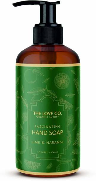 The Love Co. Mesmerizing Lime and Narangi Foaming Hand Wash, No Parabens, Silicones & Color, 100% Vegan | Cleansing and Moisturizing Gel | For Men and Women - 300 ml Hand Wash Bottle