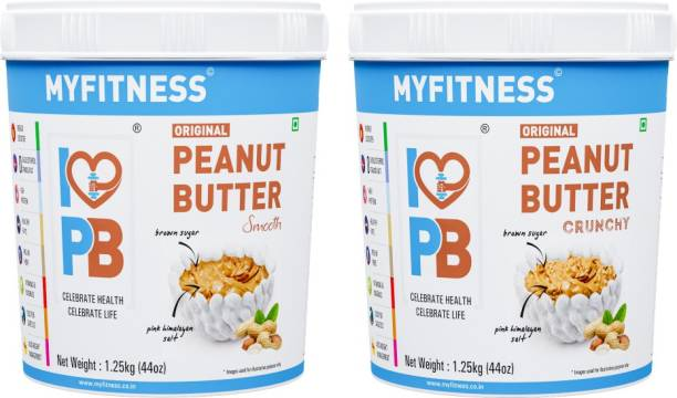 My Fitness Original Smooth and Crunchy Peanut Butter 2500 g