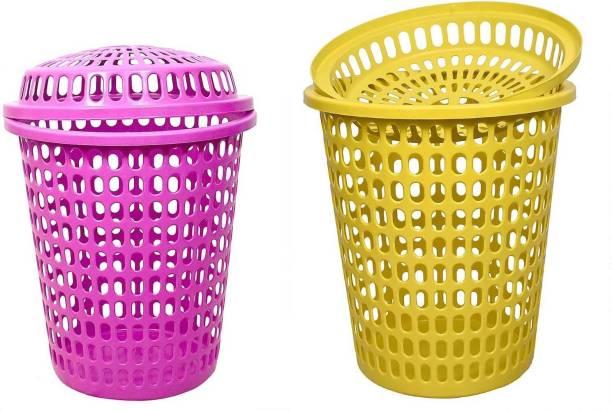 mastBus 50 L Pink, Yellow Laundry Basket