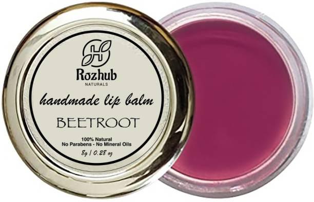 Rozhub Naturals Beetroot Lib Balm Beetroot, Coffee, Strawberry, Orange, Rose Petal, Lavender