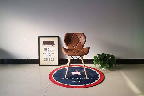 Finch Fox Eames Replica Faux Leather Dining Chair/Cafe Chair/Side Chair/Accent Chair Leather Living Room Chair