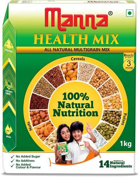 Manna Health Mix 1Kg   Sathu Maavu for Babies   100% Natural Millet Multigrain Nutrition Drink for Kids   14 Natural Ingredients 1 kg