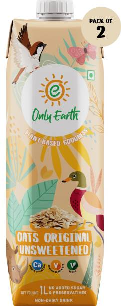 Only Earth Oats Milk Unsweetened 2Pack