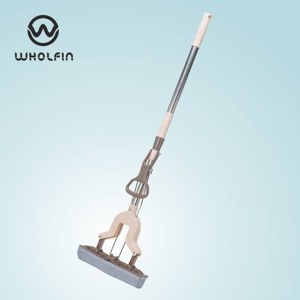 Wholfin Stretch Rotatable Cleaning Brush Glass Wiper Window Cleaner Long Handle Double Side Multifunctional, Removable, Washable Cleaning Pad And Stainless Steel Rod Wet & Dry Mop