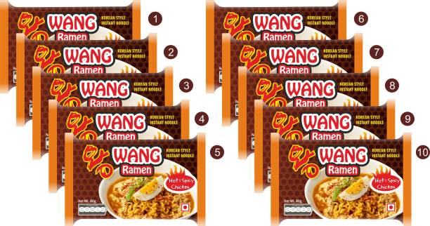 Wang Ramen Korean Style hot and spicy Ramen Instant Noodles Non-vegetarian