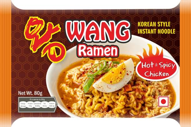 Wang Ramen Korean Style Hot & Spicy Chicken Ramen Instant Noodles Non-vegetarian