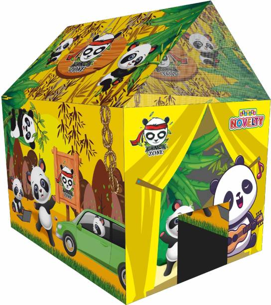 Miss & Chief Jumbo Size Light Weight Multicolor Play Tent House for Kids (Panda)