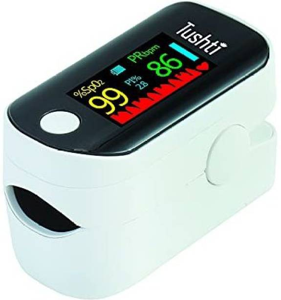 Tushti Pulse Oximeter, Digital Pulse Oxygen Meter Fingertip to Check Blood Oxygen Level, Monitor Spo2 -Accurate Readings in 8 Seconds - Heart Rate Monitor for Home, CE Certified, 1 Year Warranty Pulse Oximeter