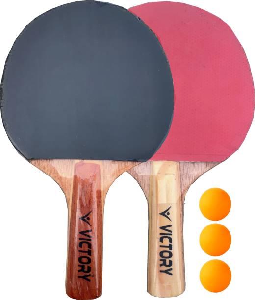 VICTORY Power TT Bat Pink / Black Black, Pink Table Tennis Racquet