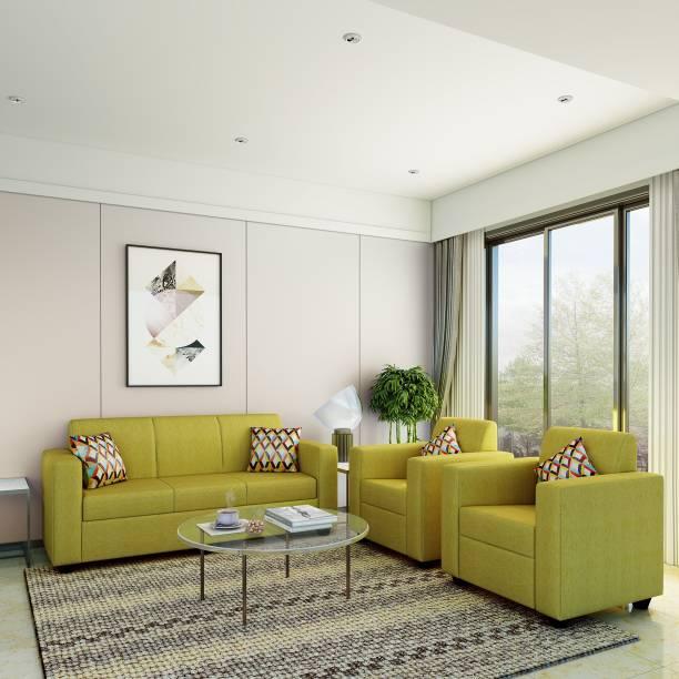 Flipkart Perfect Homes Burano Fabric 3 + 1 + 1 Green Sofa Set