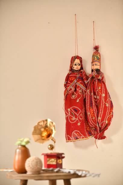 Fashion Bizz Handcrafted Rajasthani Red /Pink/Maroon Puppet(Kathputli) Marionettes