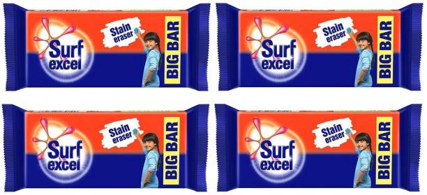 Surf excel Stain Remover pack of 04 Detergent Bar