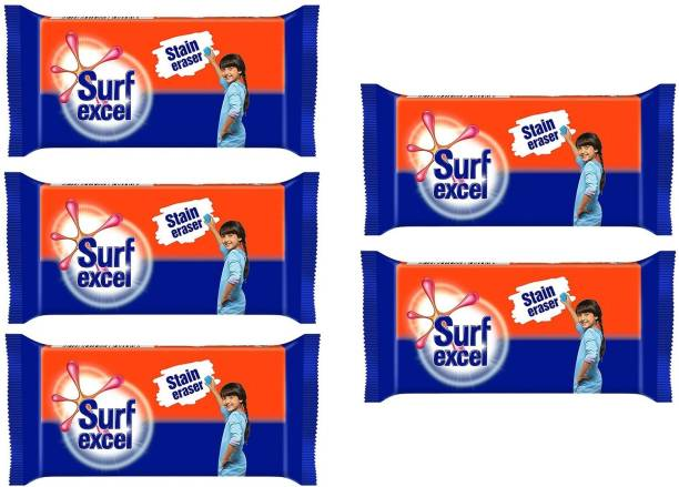 Surf excel Stain Remover pack of 05 Detergent Bar