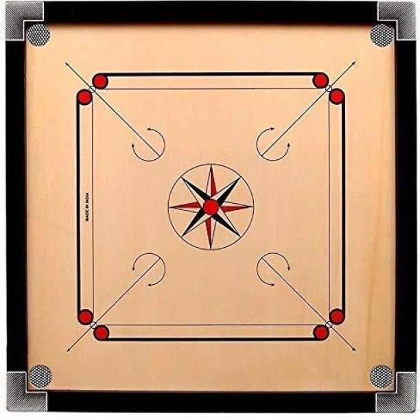 vnh 26 Inches(Medium) Matte Finish Carrom Board with Wooden Coins, Striker & Powder 26 cm Carrom Board