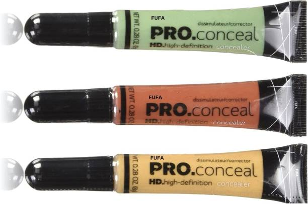 FUFA Highly Recommended Girl Pro Conceal Set Orange, Yellow, Green Correctors Concealer (Multicolor, 8 g) set of three Concealer