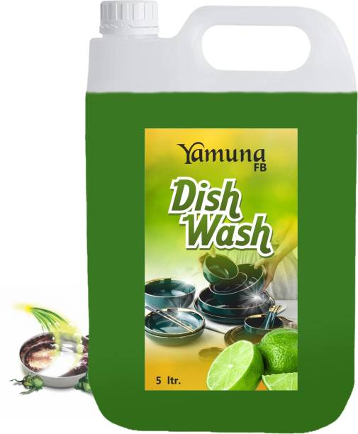 yamuna fb 5 liter green lemon Dish_washing_bar Liquid Detergent ( 5 liter) Dishwash Bar