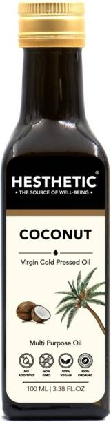 HESTHETIC Organic Cold Pressed Coconut Oil Glass Bottle