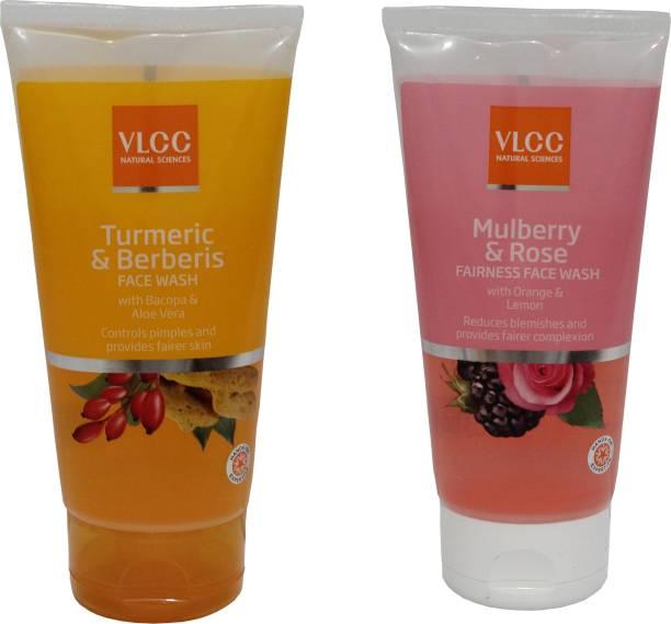 VLCC COMBO KIT OF TURMERIC & BERBERIS & MULBERRY FACE WASH (150ml*2) Face Wash