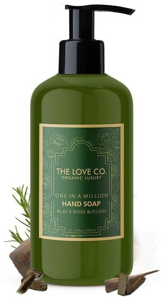 The Love Co. Mesmerizing Black Rose & Oudh Foaming Hand Wash, No Parabens, Silicones & Color, 100% Vegan | Cleansing and Moisturising Gel | For Men and Women - 300 ml Hand Wash Bottle