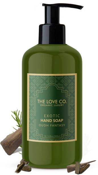 The Love Co. Mesmerising Oudh Fantasy Foaming Hand Wash, No Parabens, Silicones & Color, 100% Vegan | Cleansing and Moisturizing Gel | For Men and Women - 300 ml Hand Wash Bottle