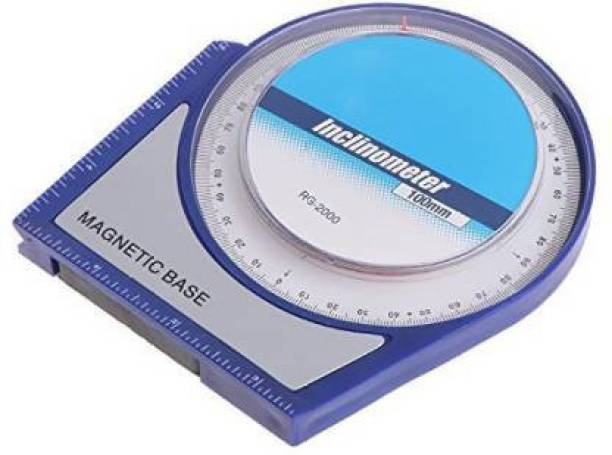 """dinojames 4"""" Angle Finder Tool for Satelite Dish Inclinometer Protractor Tilt Level Meter Clinometer Slope Angle Meter with Magnetic Base Magnetic Inclinometer Level (15 cm) Magnetic Inclinometer Level"""