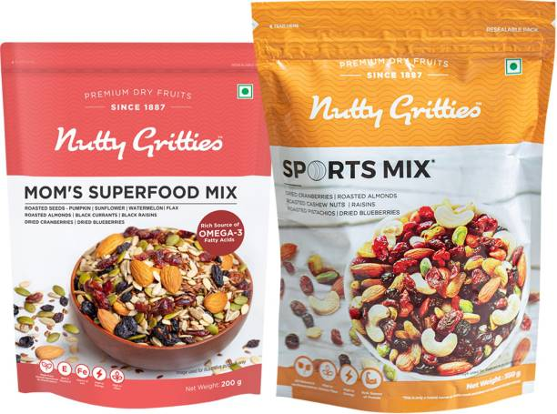 Nutty Gritties Sports Mix 350g + Mom's Superfood Mix 200g
