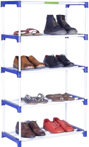 FLIPZON Multipurpose Rack Organizer for Shoe/Clothes/Books - (65.5 (L) x 32.5 (B) x 121 (H) Cms) (Need to Be Assemble - DIY) - Medium- Metal, Plastic Shoe Stand