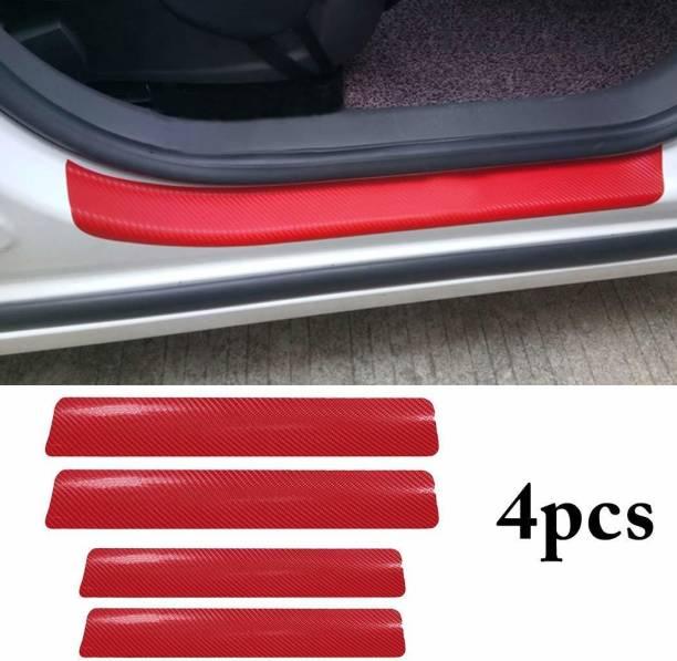 Tufkote Universal Anti-Scratch Door Sill Scuff Guard RED 4pcs Door Sill Plate