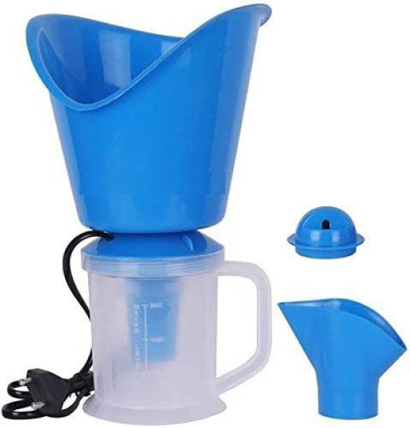 Care For You Care 3 in 1 Electric Respiratory Steamer for Nose, Face, Cold and Cough | Plastic Vaporizer, Nozzle Inhaler, Facial Sauna for Adults and Kids Vaporizer (Blue, clear) Vaporizer