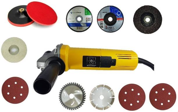 Qualigen DIVINE 4 inch 850W angle grinder machine with multiple accessories Grinding Machine Metal Polisher Metal And Stone Cutting,Sanding Polishing Angle Grinder