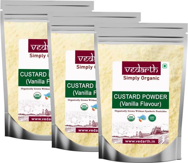 Vedarth Combo of 3 Vanilla Flavour Custard Powder 100 Gram each Custard Powder