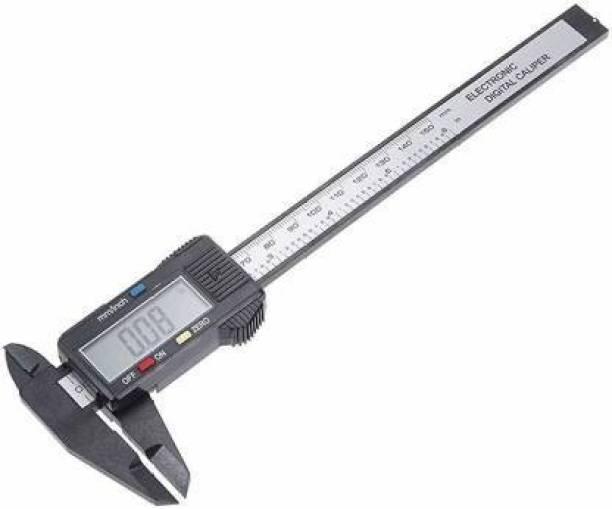 SEAVOKES Lcd Digital Electronic Carbon Fiber Vernier Caliper Gauge Micrometer Lcd Digital Electronic Carbon Fiber Vernier Caliper Gauge Micrometer Digital Caliper (150 mm) Digital Caliper
