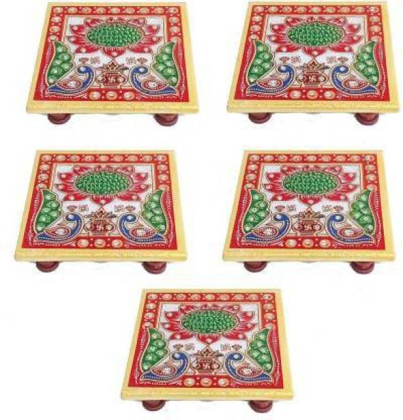 galcrafts crafts Marble All Purpose Chowki