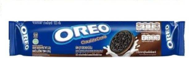OREO Biscuit Chocolate Crème Flavoured 133gm (Imported ) (Pack of 1) Cream Filled