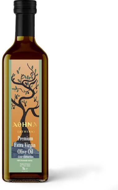 ATHINA Premium Extra Virgin Olive Oil 1L Olive Oil Glass Bottle