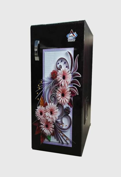 Aastha Enterprise Gharghanti Specially For Masala & Grains Grinding (2 in 1) With Standard Premium Accessories Black Door with Pink Flowers Flourmill